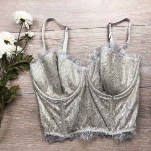 Victoria's Secret Dream Angels Nude Lace Bustier